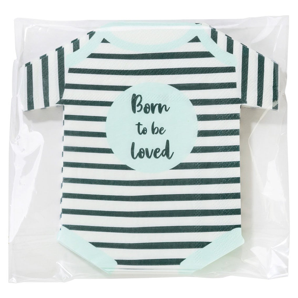Talking Tables born to be loved babygrow shaped napkin