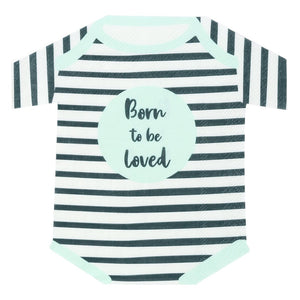 Born To Be Loved Babygrow Shaped Napkin - Talking Tables US Public