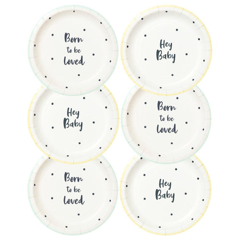 Born To Be Loved Plate - Talking Tables US Public