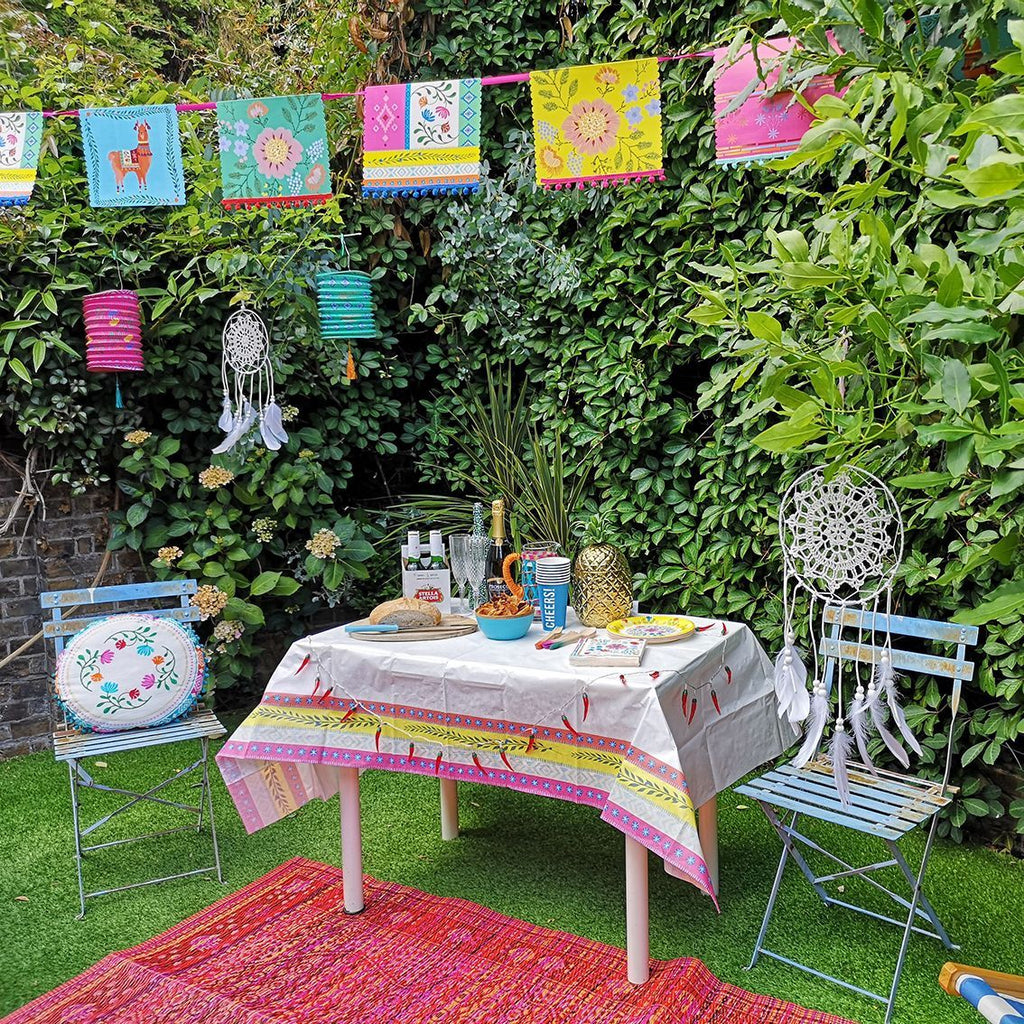 Boho Mixed Pom Pom Garland - Talking Tables US Public