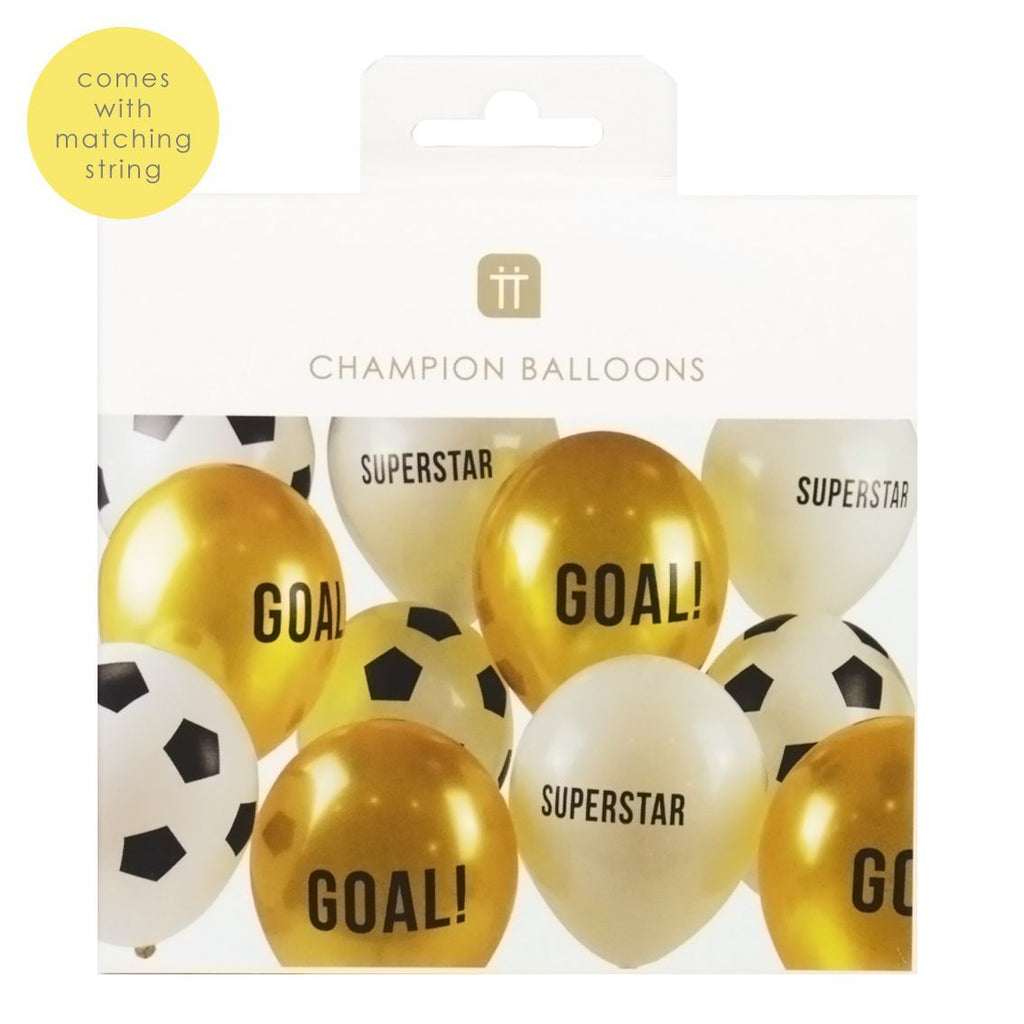 Party Champions 12 inch Balloons 12 pack 3 designs - Talking Tables US Public