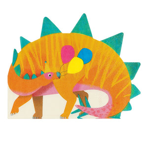 Party Dinosaur Shaped Napkins - Talking Tables US Public
