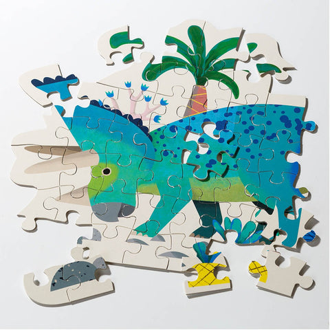Party Dinosaur Triceraptops Shaped Puzzle 62 Pieces - Talking Tables US Public