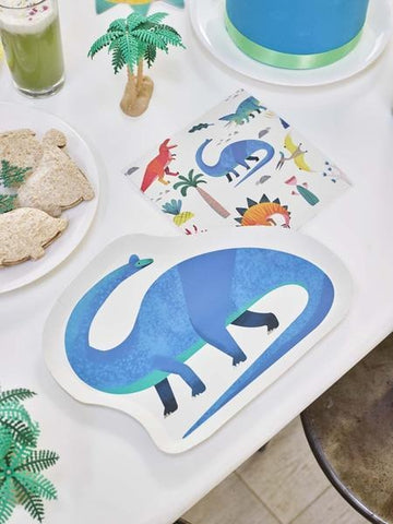Talking Tables party dinosaur shaped plates