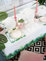 Tropical Fiesta Palm Leaf Table Cover - Talking Tables US Public