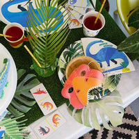 Tropical Fiesta Palm Leaf Paper Plates - Talking Tables US Public