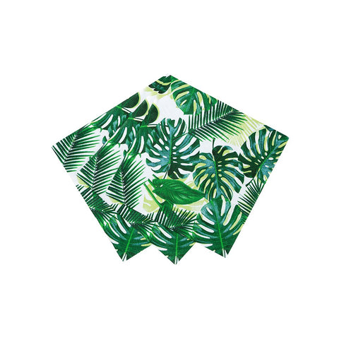 Tropical Fiesta Palm Leaf Cocktail Napkins - Talking Tables US Public