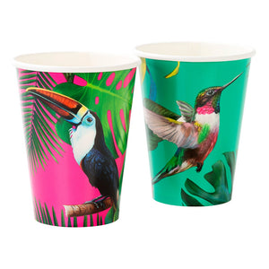Tropical Fiesta Bright Paper Cups - Talking Tables US Public