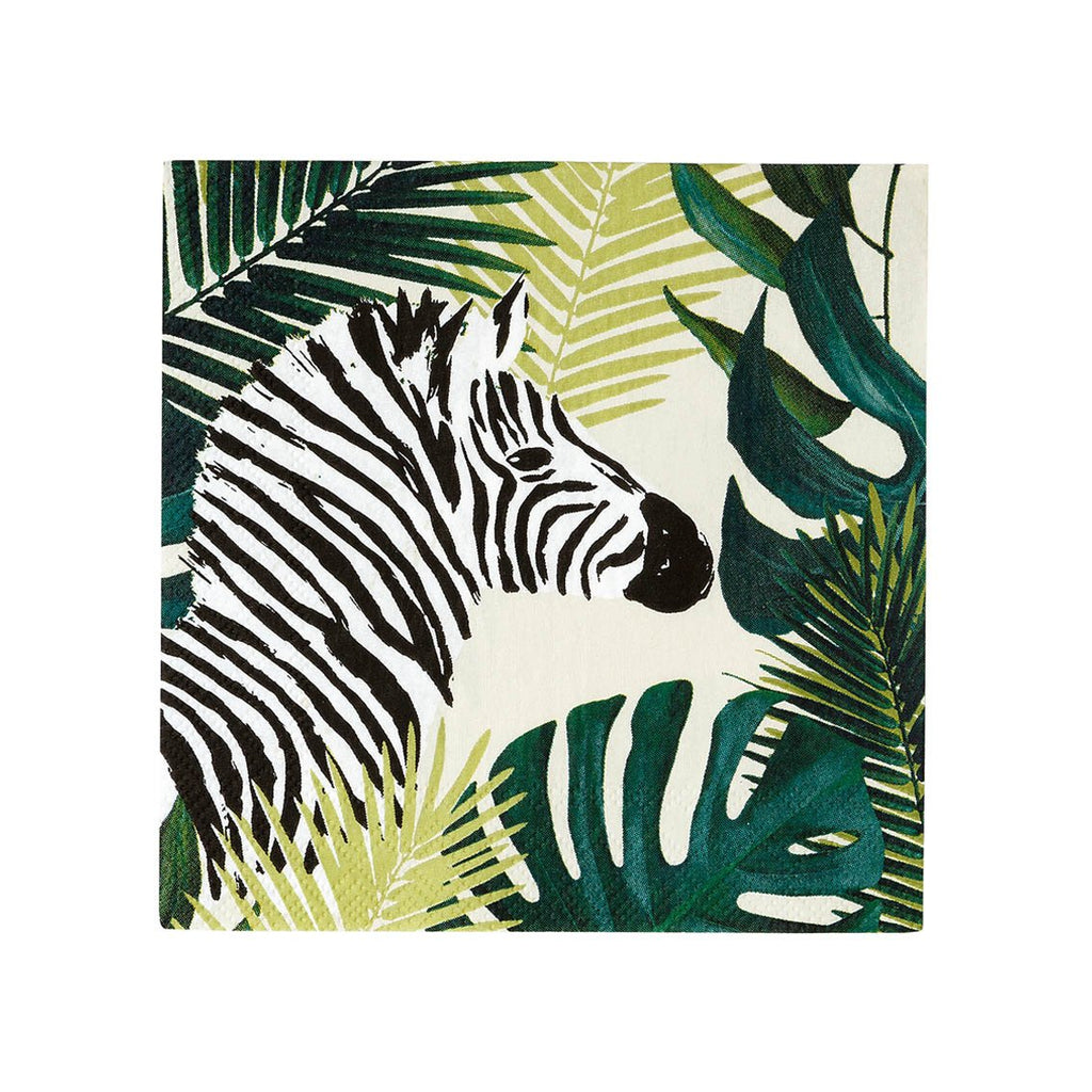 Tropical Palm Zebra Napkins - Talking Tables US Public
