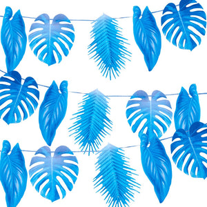 Fiesta Blue Palm Leaf Garland 1.5M