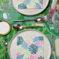 Pastel Tropical Palm Leaf Napkins (Pack of 20) - Talking Tables