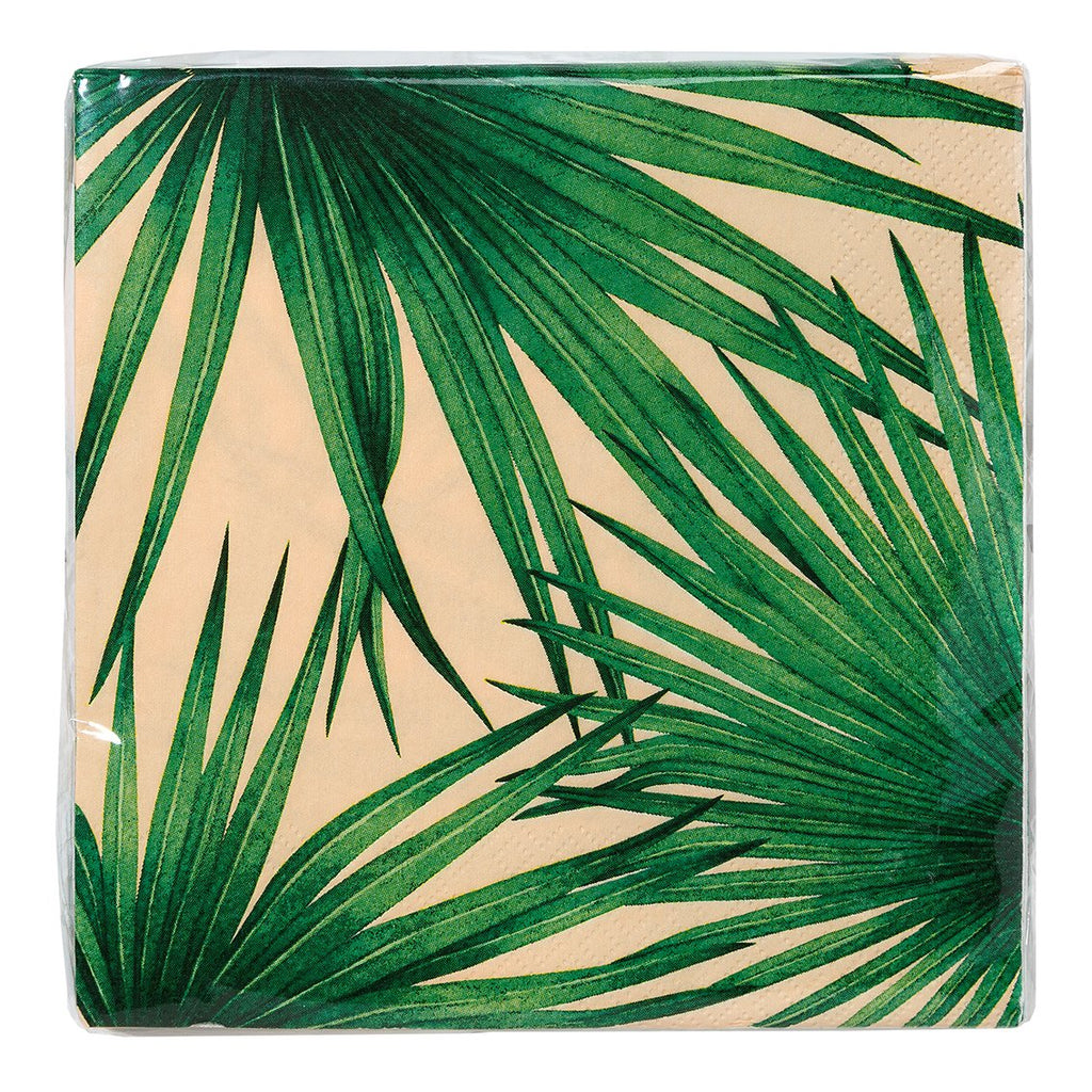 Tropical Palm Pink Napkins - Talking Tables US Public