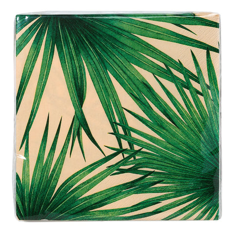 Tropical Palm Pink Napkins