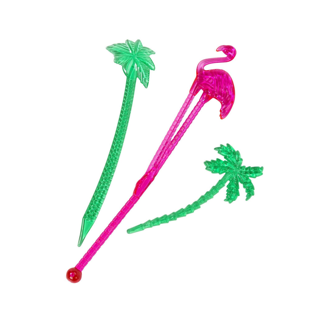 Talking Tables tropical fiesta stirrer and pick set