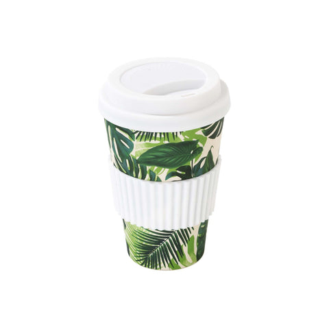 Talking Tables tropical fiesta palm print travel mug