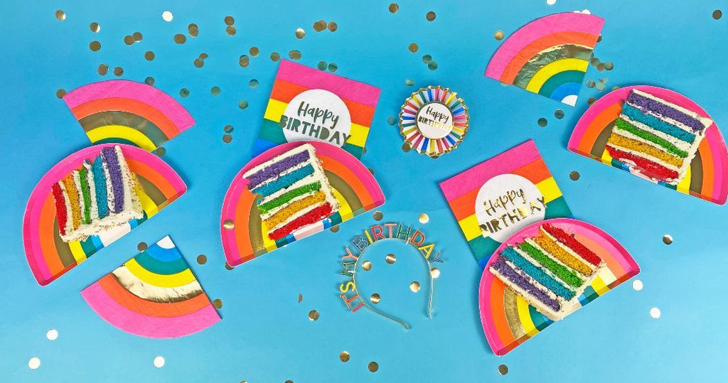 Birthday Brights Rainbow Shaped Napkins - Talking Tables US Public