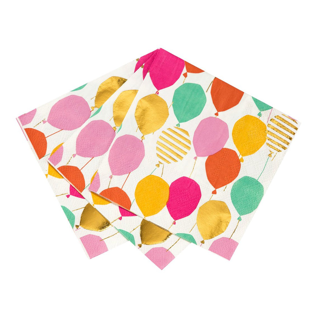 Luxe Gold Balloon Pattern Cocktail Napkin - Talking Tables US Public