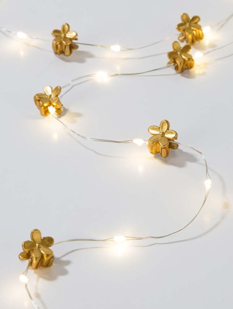 Talking Tables luxe gold hair string lights