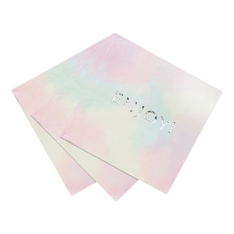 We Heart Pastel 'Enjoy' Napkins