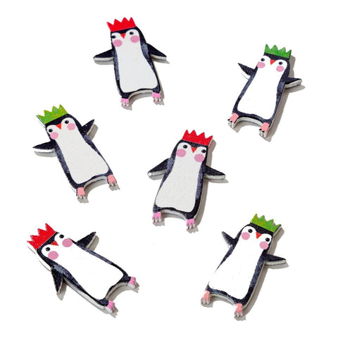 Penguin Parade Wooden Scatter