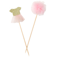 Talking Tables we heart pink tutu and pom pom picks 12pk