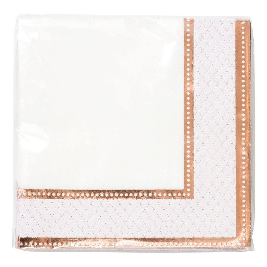 Party Porcelain Rose Gold Napkin - Talking Tables US Public