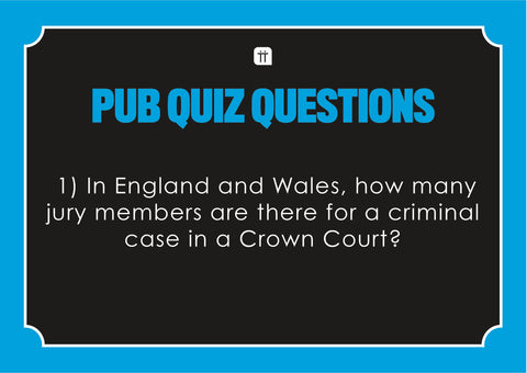 Printable - Pub Quiz II - Talking Tables US Public