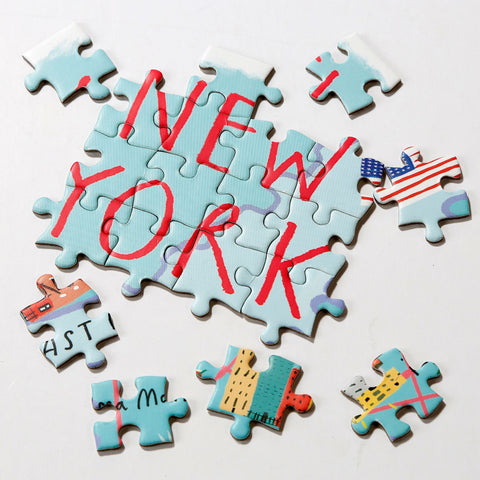 Map Puzzle New York 250 Pieces - Talking Tables US Public