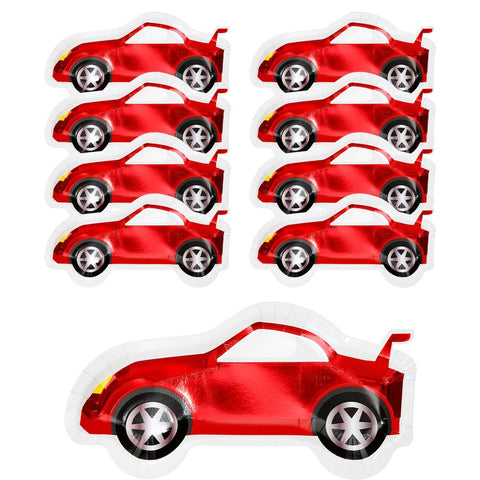 Party Racer Car Shaped Plates - Talking Tables US Public