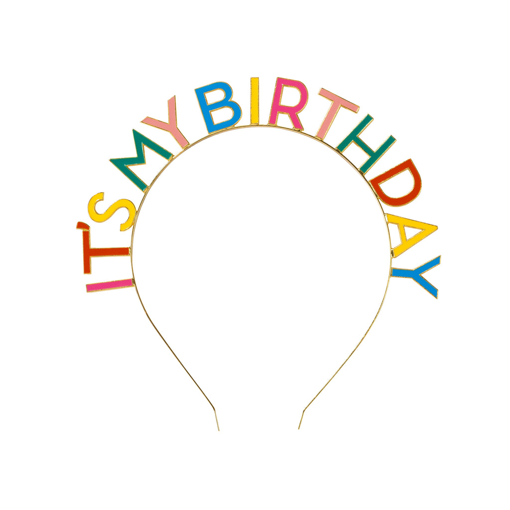Talking Tables Birthday Brights Rainbow It's My Birthday Headband
