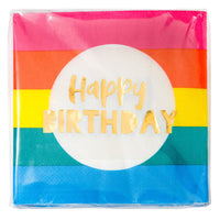 Talking Tables birthday brights rainbow happy birthday napkins