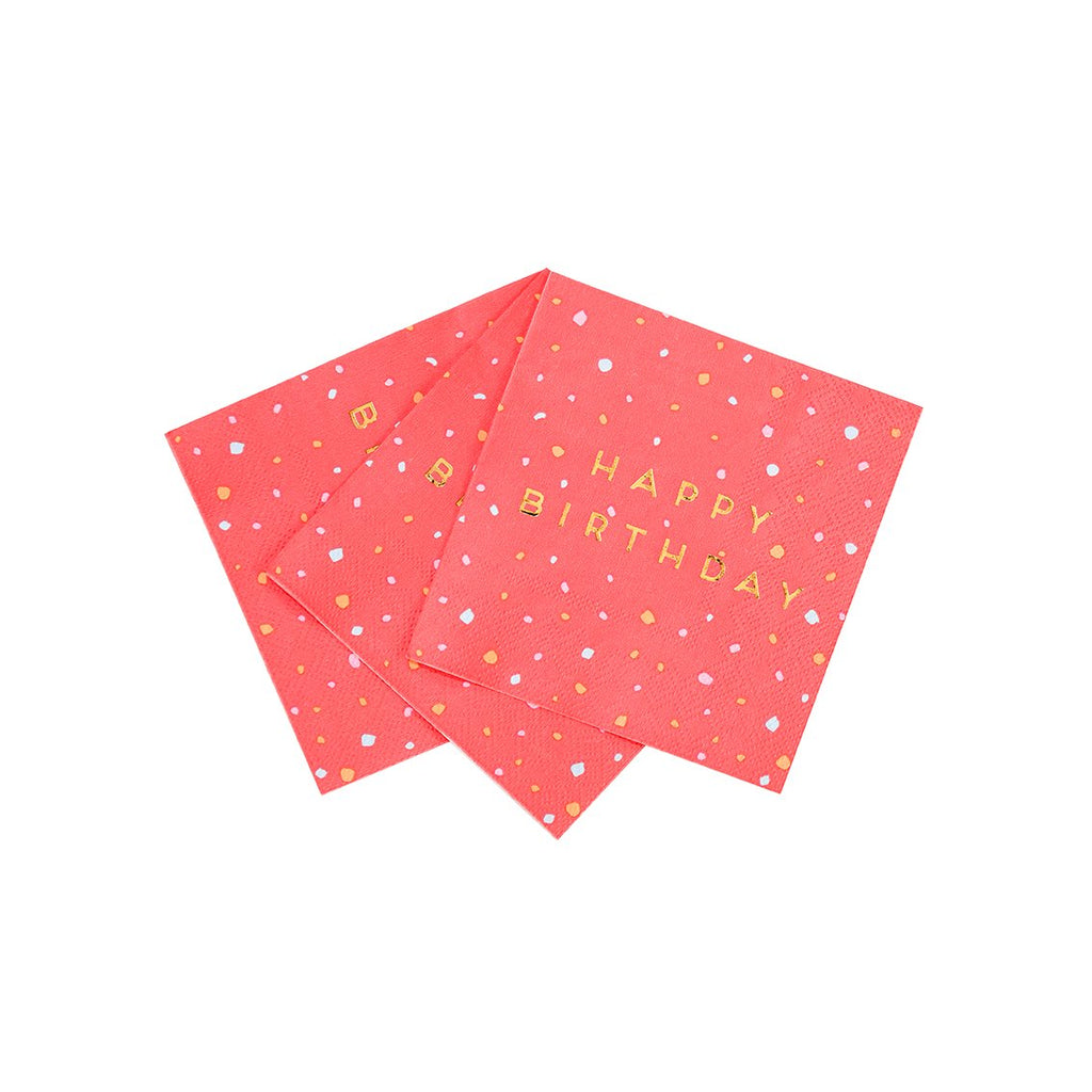Rose Cocktail Napkins - Talking Tables US Public