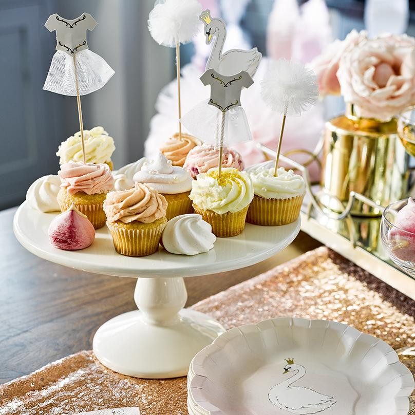 We Heart Swans Cake Toppers