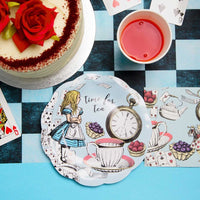 Alice in Wonderland Paper Plates (Pack of 12) - Talking Tables