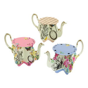 Truly Alice Teapot Cake Stands - Talking Tables US Public