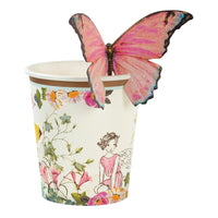 Talking Tables truly fairy cups with butterfly trim pk12