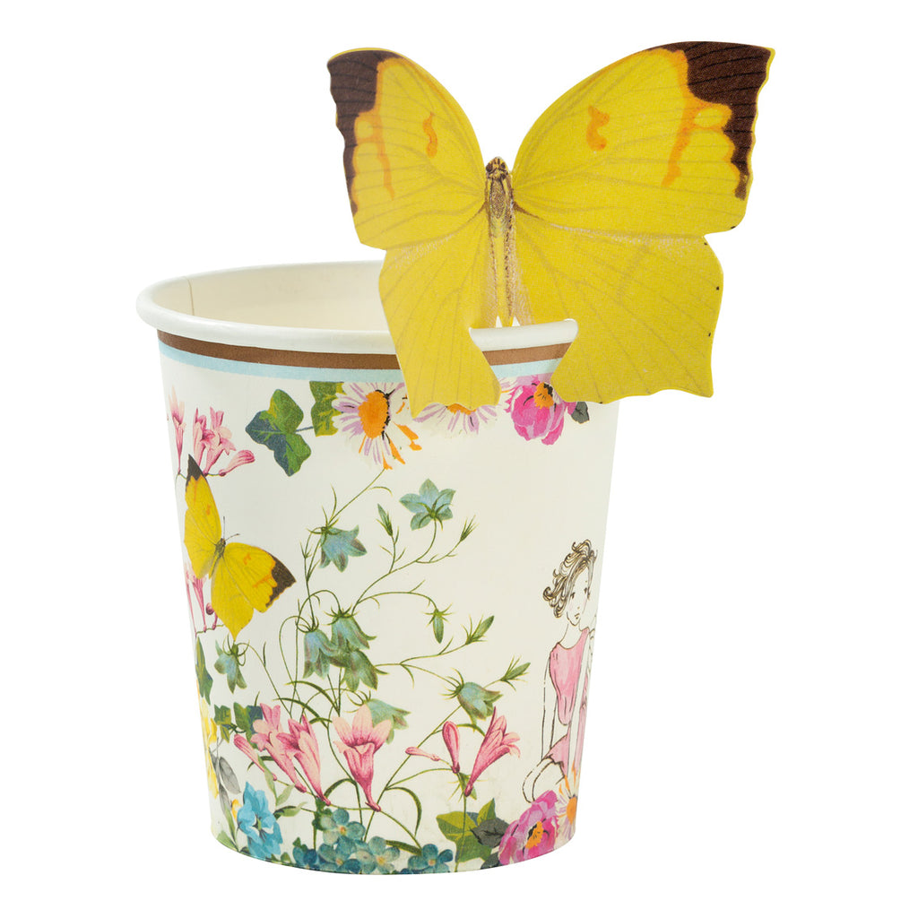 Truly Fairy Paper Cups with Butterfly Detail