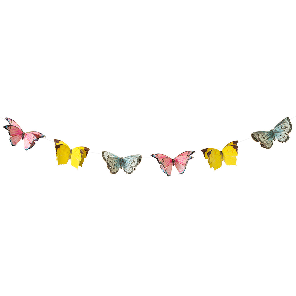 Talking Tables truly fairy butterfly bunting 2 5 metres