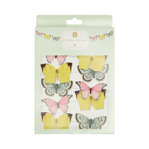 5m Pastel Butterfly Garland Decoration (Pack of 1) - Talking Tables