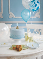 We Heart Birthday Glitter Number Candle Blue 0 - Talking Tables US Public