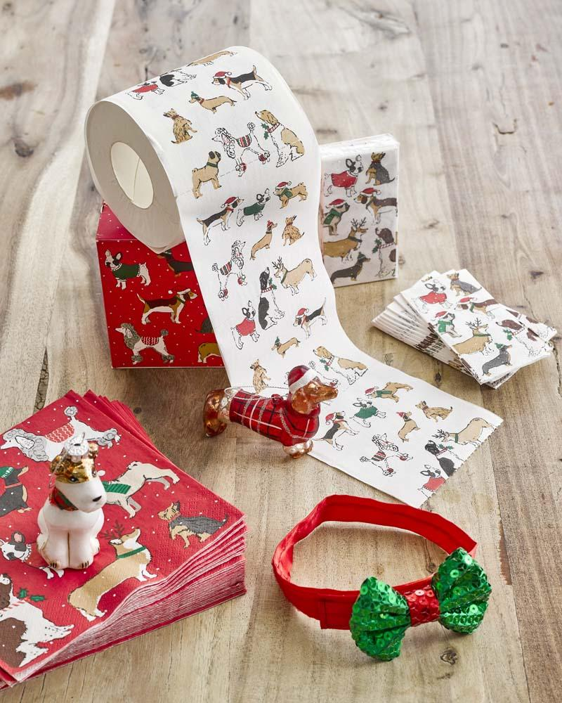 Christmas Entertainment Pooch Bow Tie - Talking Tables US Public