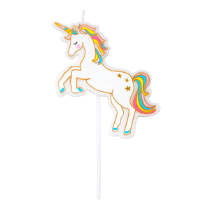We Heart Unicorns Unicorn Candle - Talking Tables US Public