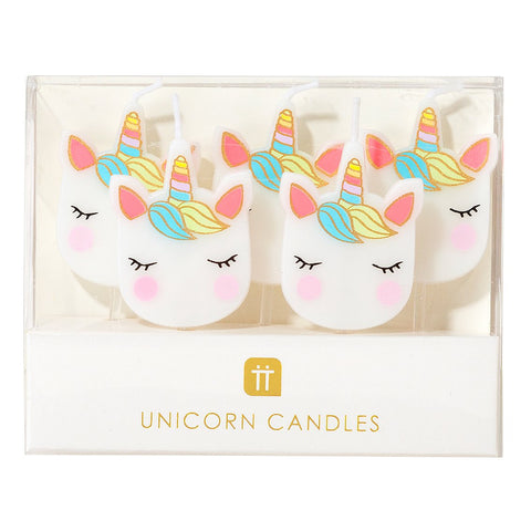 We Heart Unicorns Cake Candles - Talking Tables US Public