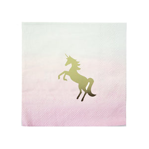 We Heart Unicorn Cocktail Napkins