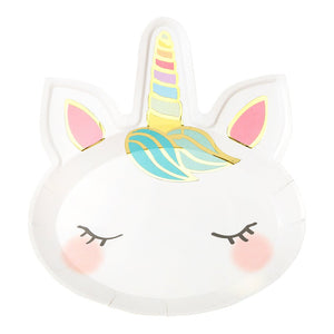 We Heart Unicorns Face Plates - Talking Tables US Public