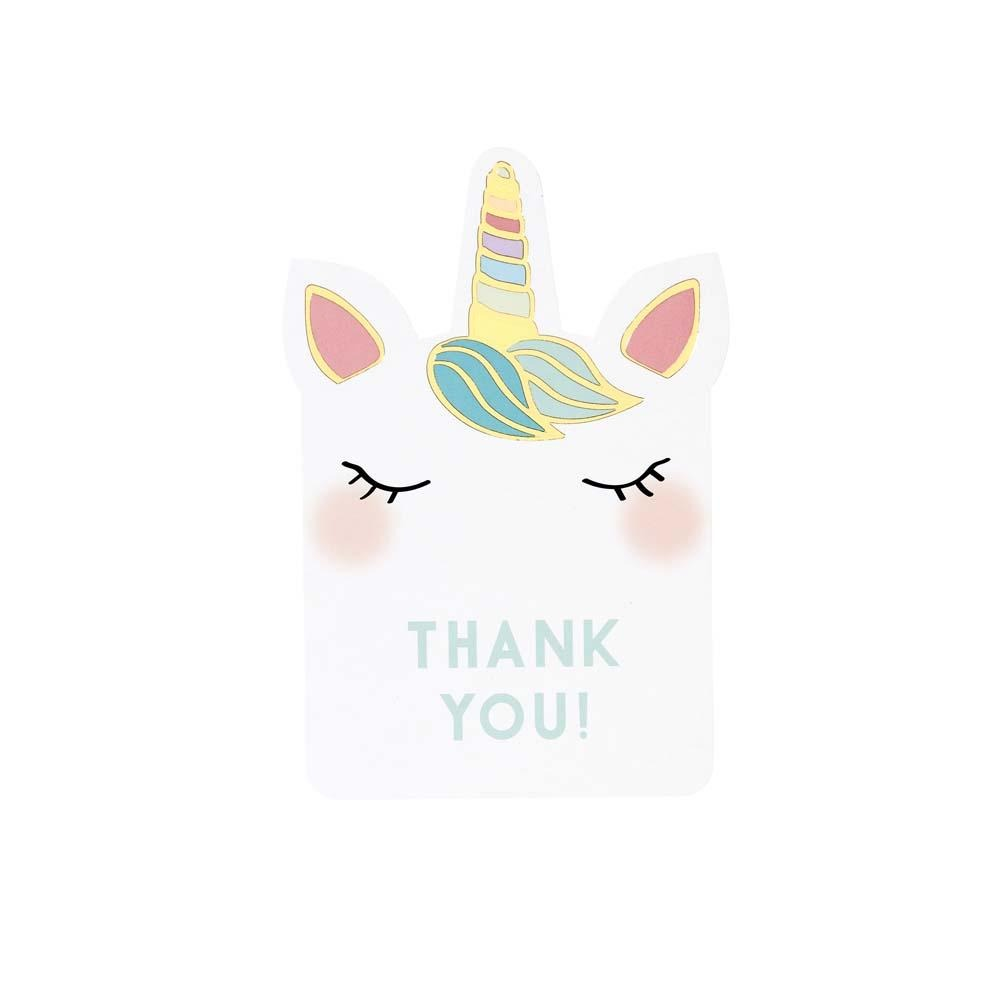 Talking Tables we heart unicorn thank you cards 8pk