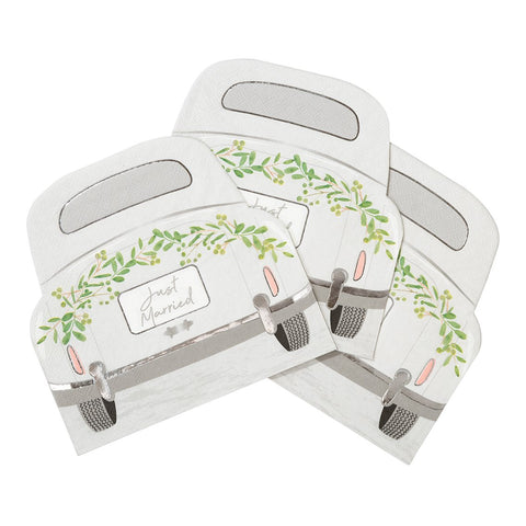 Botanical Bride Car Shaped Napkins - Talking Tables US Public