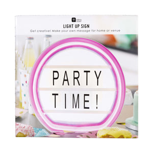 Talking Tables party illuminations write your own message light box with neon look frame