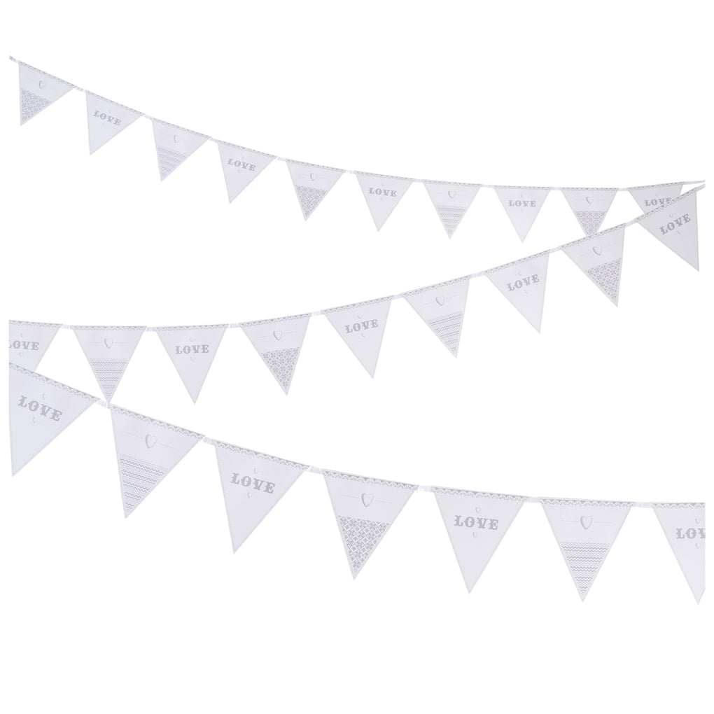 Talking Tables eat drink be married paper bunting 16 flags x 3m