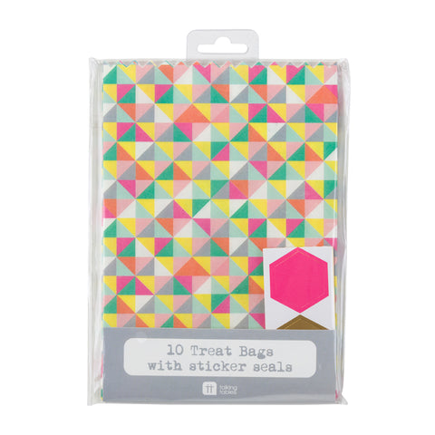 Talking Tables mix match geo treat bags 10pk